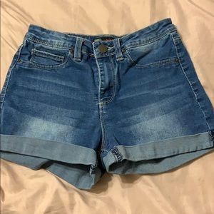 YMI high rise jean shorts